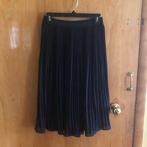 Black pleated chiffon skirt